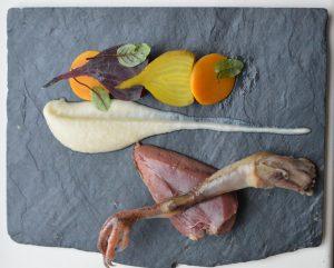 Gebraden duif door Chef Nicolas