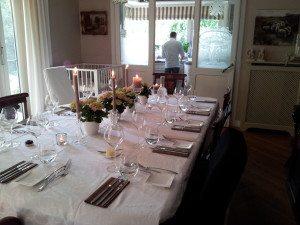 Gedekte tafel Chef Nicolas