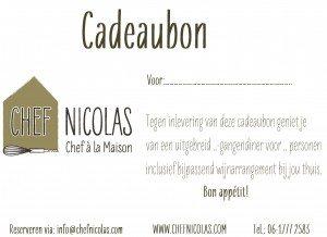 Cadeaubon Chef Nicolas