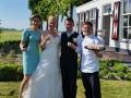 Amuses tijdens huwelijksreceptie